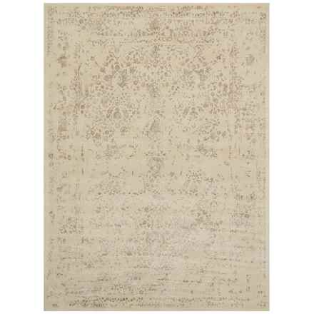 """Loloi Journey Collection Antique Ivory and Slate Area Rug - 5'x7'6"""", Wool-Viscose in Antique Ivory/Slate - Closeouts"""