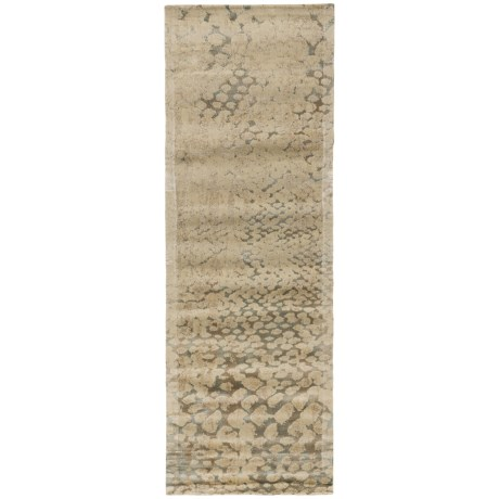 Loloi Journey Collection Multi-Ivory Floor Runner - 2?4?x7?9? Wool-Viscose