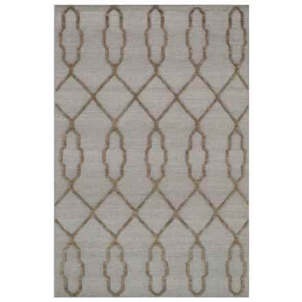 """Loloi Made in India Slate Flat-Weave Textured Area Rug - 5'x7'6"""", Wool in Slate - Closeouts"""