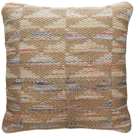 "Loloi Neutral Decor Pillow - 22x22"" in Beige / Coral"