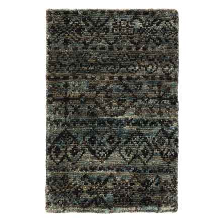 """Loloi Nomad Jute Accent Rug - 2'3""""x3' in Midnight - Closeouts"""