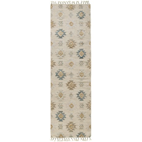 Loloi Owen Collection Pewter and Sand Floor Runner - 2?6?x9?9? Jute-Wool