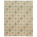 """Loloi Owen Collection Pewter and Sand Scatter Accent Rug - 3'6""""x5'6"""", Jute-Wool"""