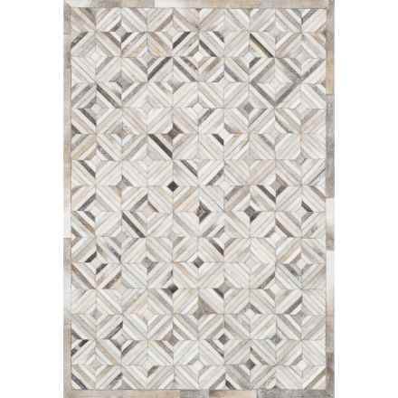 "Loloi Promenade Cowhide Area Rug - 7'6""x9'6"" in Ivory/Grey - Closeouts"