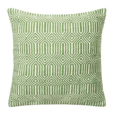 "Loloi Stripe Textured Indoor/Outdoor Throw Pillow - 22"" in Green/Ivory - Closeouts"