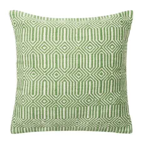 """Loloi Stripe Textured Indoor/Outdoor Throw Pillow - 22"""" in Green/Ivory"""