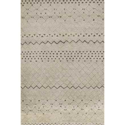 Loloi Tanzania Accent Rug - 4x6', Hand-Knotted Wool and Jute in Sand - Closeouts
