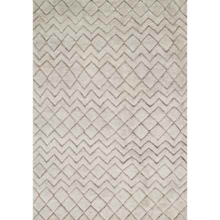 Loloi Tanzania Accent Rug - 4x6', Hand-Knotted Wool and Jute in Stone - Closeouts