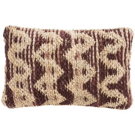 "Loloi Textured Decor Pillow - 13x21"" in Brown/Beige"