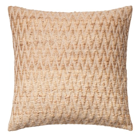 "Loloi Textured Jute Decor Pillow - 22x22"" in Beige"