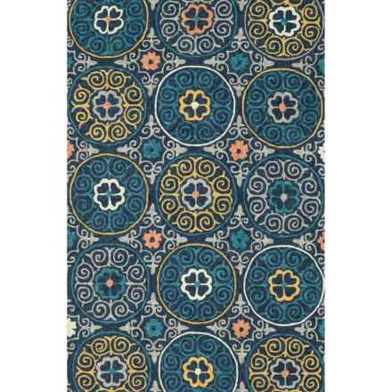 "Loloi Tropez Indoor/Outdoor Accent Rug - 3'6""x5'6"" in Navy/Multi - Closeouts"