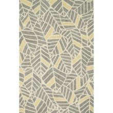 "Loloi Tropez Indoor/Outdoor Area Rug - 5'x7'6"" in Grey/Gold - Closeouts"