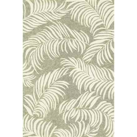 "Loloi Tropez Indoor/Outdoor Area Rug - 5'x7'6"" in Sage/Ivory - Closeouts"