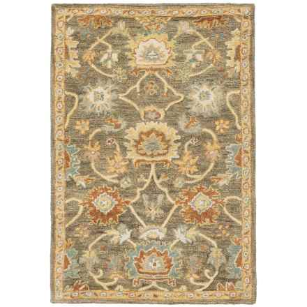 "Loloi Underwood Collection Accent Rug - Hooked Wool, 3'6""x5'6"" in Charcoal/Gold - Closeouts"