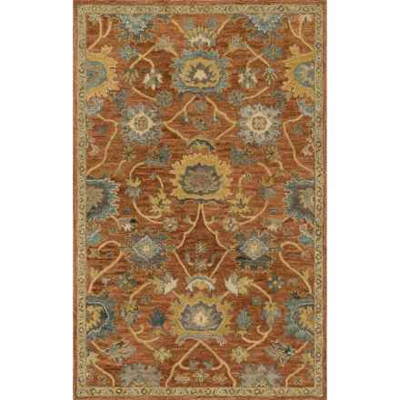 """Loloi Underwood Collection Area Rug - 9'3""""x13', Hooked Wool in Rust/Gold - Closeouts"""