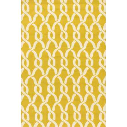 "Loloi Venice Beach Indoor/Outdoor Accent Rug - 2'3""x3'9"" in Golden Rod/Ivory - Closeouts"