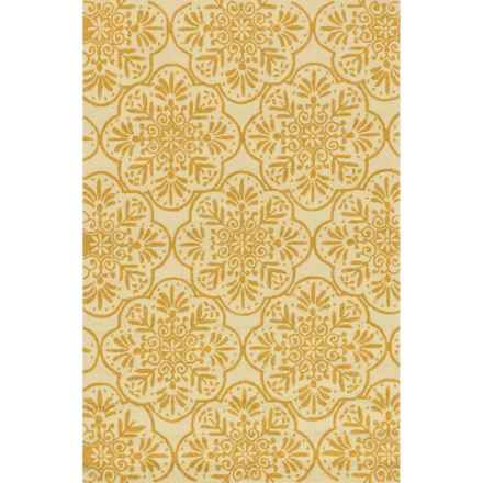 """Loloi Venice Beach Indoor/Outdoor Accent Rug - 2'3""""x3'9"""" in Ivory/Buttercup - Closeouts"""