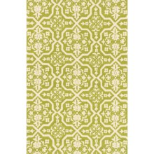 """Loloi Venice Beach Indoor/Outdoor Accent Rug - 2'3""""x3'9"""" in Peridot/Ivory - Closeouts"""