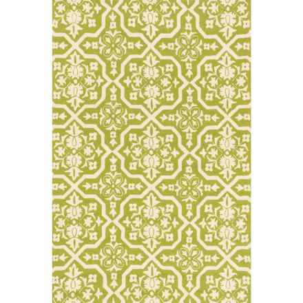 "Loloi Venice Beach Indoor/Outdoor Accent Rug - 2'3""x3'9"" in Peridot/Ivory - Closeouts"