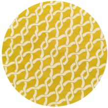 "Loloi Venice Beach Indoor/Outdoor Area Rug - 7'10"" Round in Golden Rod/Ivory - Closeouts"
