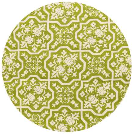 """Loloi Venice Beach Indoor/Outdoor Area Rug - 7'10"""" Round in Peridot/Ivory - Closeouts"""