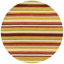 "Loloi Venice Beach Indoor/Outdoor Area Rug - 7'10"" Round in Sunset - Closeouts"