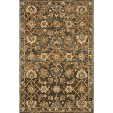 """Loloi Victoria Area Rug - 7'9""""x9'9"""", Hand-Hooked Wool in Dk Taupe/Multi - Closeouts"""