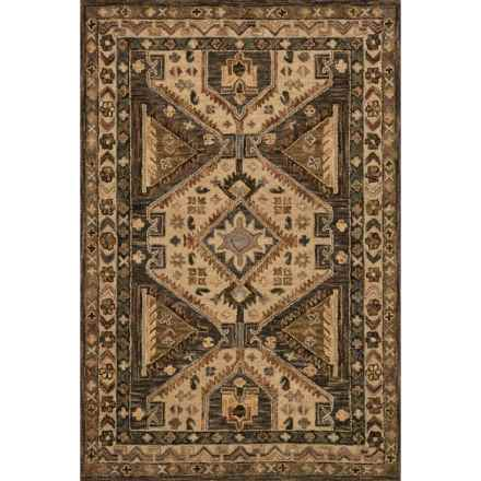 "Loloi Victoria Area Rug - 7'9""x9'9"", Hand-Hooked Wool in Walnut/Beige - Closeouts"