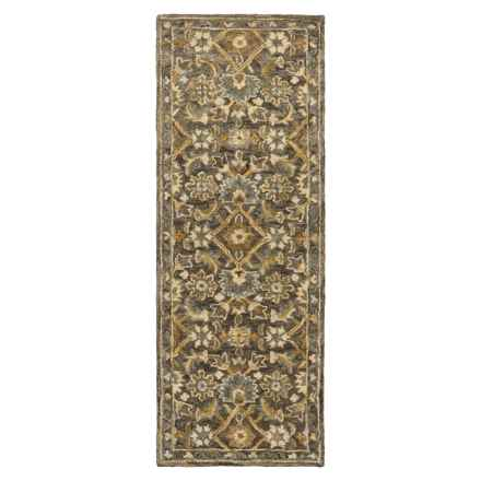 "Loloi Victoria Floor Runner - 2'6""x7'6"", Hooked Wool in Dk Taupe/Multi - Closeouts"