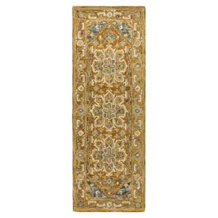 "Loloi Victoria Floor Runner - 2'6""x7'6"", Hooked Wool in Rust/Rust - Closeouts"