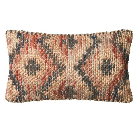 "Loloi Woven Decor Pillow - 13x21"" in Red/Beige"