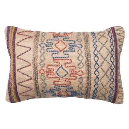 "Loloi Woven Patterned Decor Pillow - 13x21"" in Multi - Closeouts"
