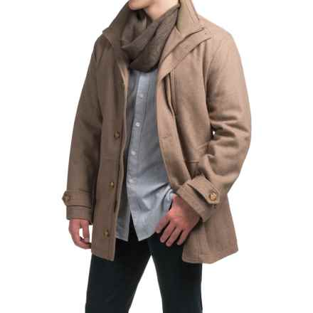 London Fog Antone Wool Blend Car Coat (For Men) in Toast Heather - Closeouts
