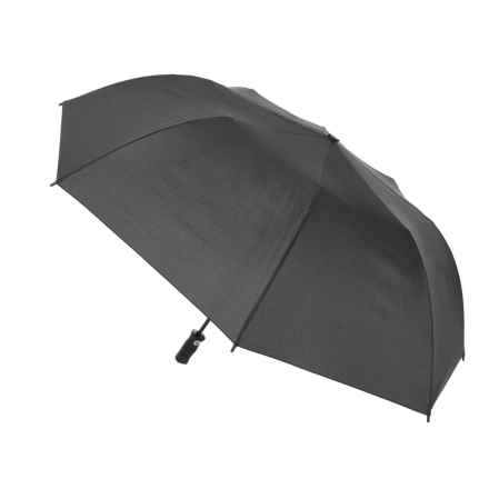 "London Fog Auto Open/Close Jumbo Umbrella - 48"" in Black - Closeouts"