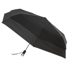 "London Fog Auto-Open/Close Umbrella with LED Light - 42"" in Black - Closeouts"