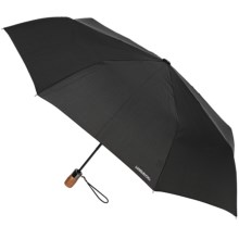 "London Fog Auto-Open/Close Umbrella - Wood Handle, 42"" in Black - Closeouts"