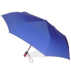 "London Fog Auto-Open/Close Umbrella - Wood Handle, 42"" in Cobalt"