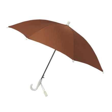London Fog Auto Stick Umbrella (For Kids) in Dark Brown - Closeouts