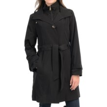 London Fog Bib Trench Coat (For Women) in Black - Closeouts