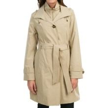 London Fog Bib Trench Coat (For Women) in Stone - Closeouts
