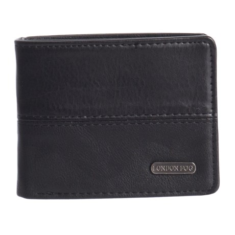London Fog Bifold Wallet - Leather (For Men) in Black