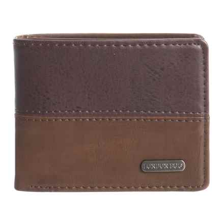 London Fog Bifold Wallet - Leather (For Men) in Brown - Closeouts