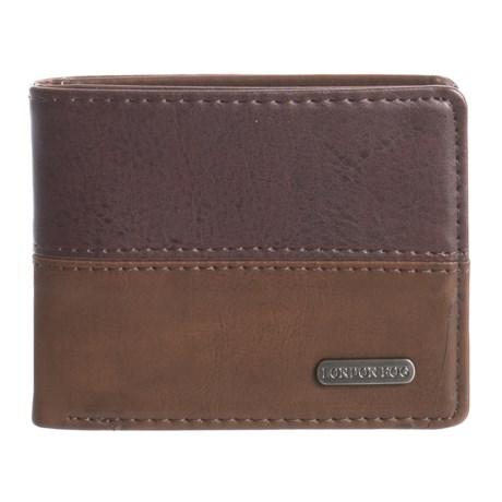 London Fog Bifold Wallet - Leather (For Men) in Brown