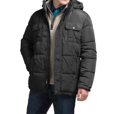 London Fog Bonanza Down Parka - Detachable Hood (For Men) in Black - Closeouts