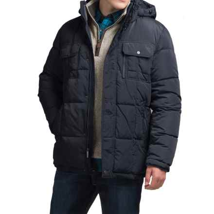 London Fog Bonanza Down Parka - Detachable Hood (For Men) in Navy - Closeouts