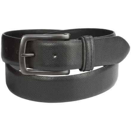 London Fog Bridle Leather Belt (For Men) in Black - Closeouts