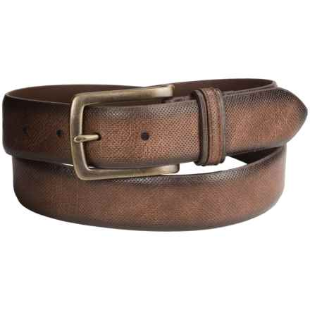 London Fog Bridle Leather Belt (For Men) in Brown - Closeouts