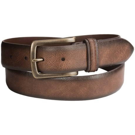 London Fog Bridle Leather Belt (For Men) in Brown