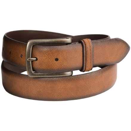 London Fog Bridle Leather Belt (For Men) in Tan - Closeouts