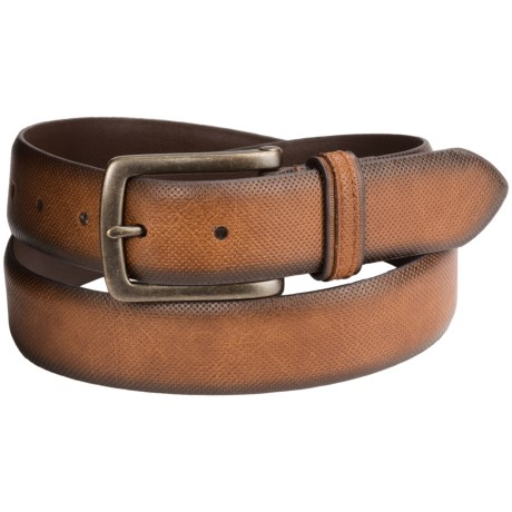 London Fog Bridle Leather Belt (For Men) in Tan